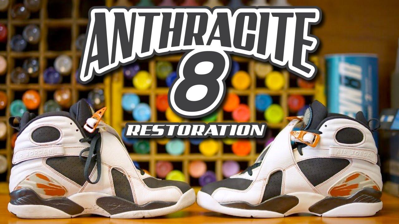 e26ac1e25e05 Restoring Air Jordan Anthracite 8 s - Restoration With Vick - YouTube