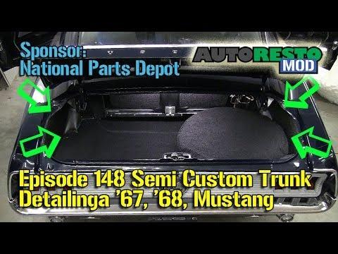 Classic Car Semi Custom Trunk Detailing a '67, '68, Mustang Episode 148 Autorestomod 1
