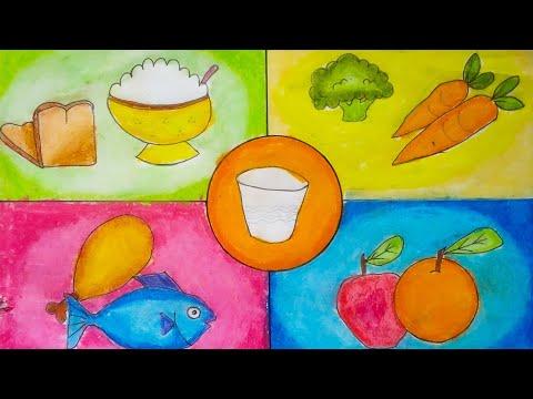 Menggambar Dan Mewarnai Gambar Makanan 4 Sehat 5 Sempurna Youtube