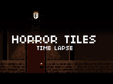 Pixel Art Time Lapse Grunge Horror Tile Set Youtube