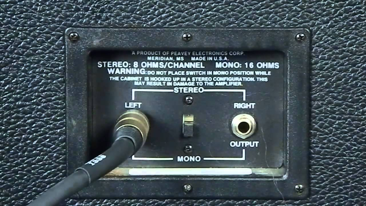 Half Stack Mono Connection Youtube Wiring 1x12 Guitar Cabinet