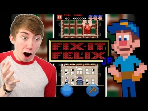 Fix It Felix Jr. - IT'S A REAL GAME! (iPhone Gameplay Video)