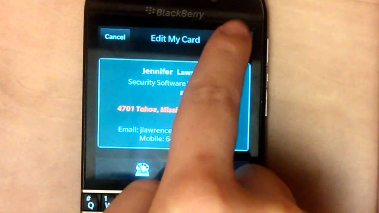 E Business Card Holder for BlackBerry10 - YouTube