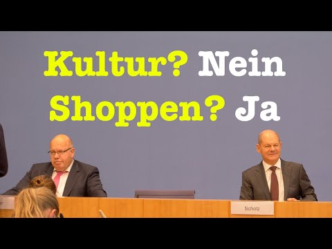 Neue Corona-Maßnahmen: Olaf Scholz (SPD) & Peter Altmaier (CDU) | BPK 29.10.2020