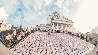 1000 Nicki Minaj cutouts in Helsinki morning