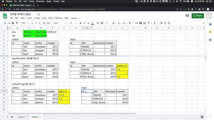 관계형 데이터 모델링 - 5.5.1. N:M 관계의 처리