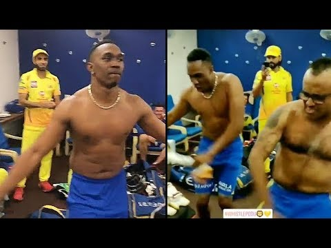Csk vs Srh : Chennai Super Kings Celebration in Dressing room | Ipl 2018