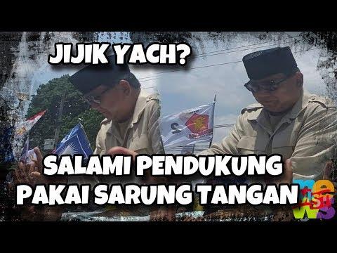 Anjrit! Prabowo Pakai Sarung Tangan Salaman Dengan Pendukung! Jijik Yach?