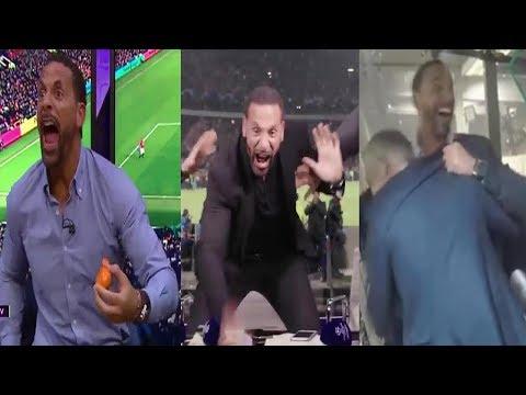 Rio Ferdinand Top Crazy Goal Reactions (Man UTD, Barcelona, PSG, Tottenham)