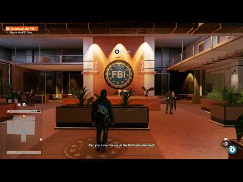 Watch Dogs 2 - W4tched: Enter & Reach FBI Floor via Elevator, Wrench Dialogue, Marcus Gameplay PS4