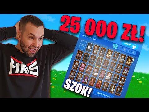 KONTO w FORTNITE za 25 000 ZŁ ! (1000 skinów, nie wierzę)