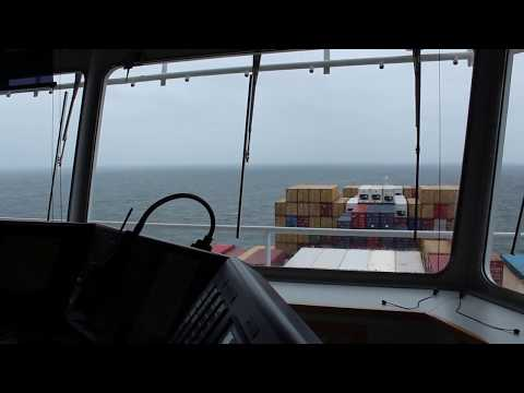 8000 teu Container ship at sea