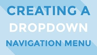 HTML & CSS - Creating a dropdown navigation menu by mjdwebdesign