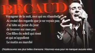 Gilbert Bécaud - Les marchés de Provence - Paroles (Lyrics)