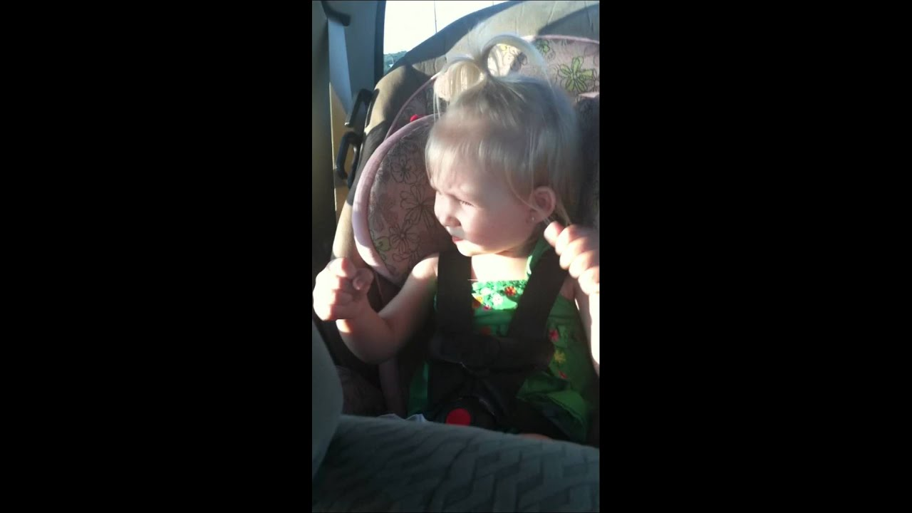 Toddler dancing in car seat to Rob Zombie - YouTube