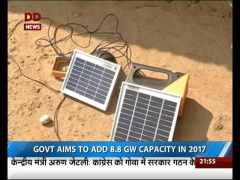 India's solar power generation capacity crosses 10,000MW