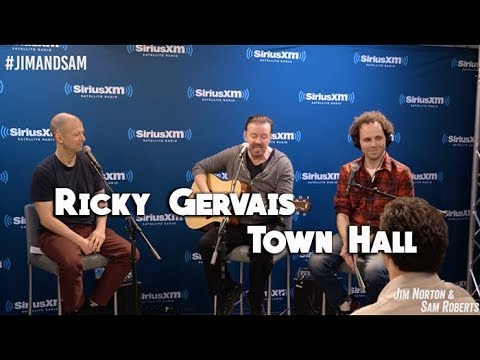Ricky Gervais Town Hall- David Brent, David Bowie stories, Slough, etc- Jim Norton & Sam Roberts