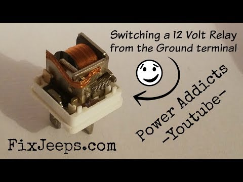 Switching a automotive 12 volt relay from the ground terminal