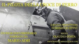 Il pilota della croce di ferro # 9 In volo con il Fiat CR 42 Falco