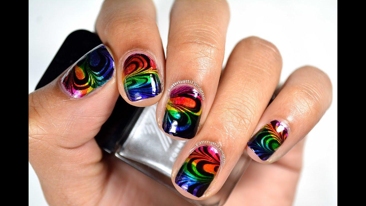 DIY: Rainbow Petal Water Marble using Formula X Infinite Ombre Kit ...
