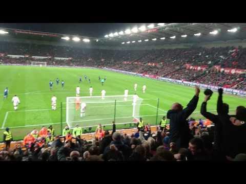 Wayne Rooney free kick v Stoke City [21.01.2017]