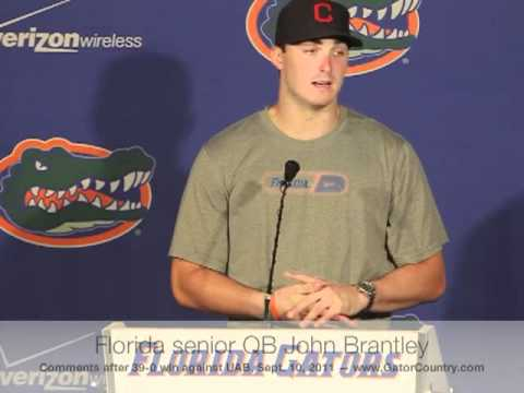 Florida Gators QB John Brantley 9/10/11