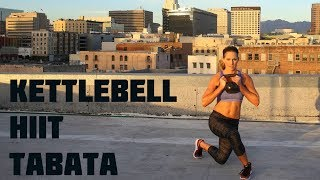 35 Minute Kettlebell Tabata HIIT Workout--Strengthen and Tone with Intervals