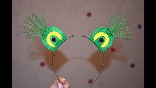 ободок лягушка Как сделать ободок на утренник Hairband frog DIY handmade