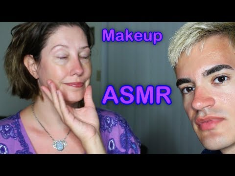 Dramatic Makeup Application on a Woman! (ASMR)