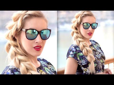 ЛОЖНАЯ французская коса БЕЗ плетения ❤ Причёски для средних, длинных волос