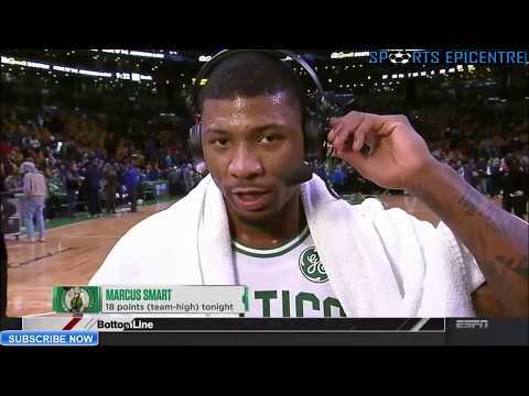 Marcus Smart On The Difference Between Playing With Isaiah Thomas & Kyrie Irving