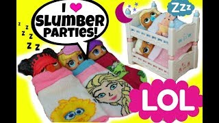 LOL Surprise Dolls SLUMBER PARTY Lil Sisters BUNK BED BABIES Blind Bag Surprises