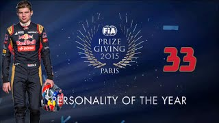 Max Verstappen - FIA Prize Giving 2015 (3) - FIA Personality Of The Year