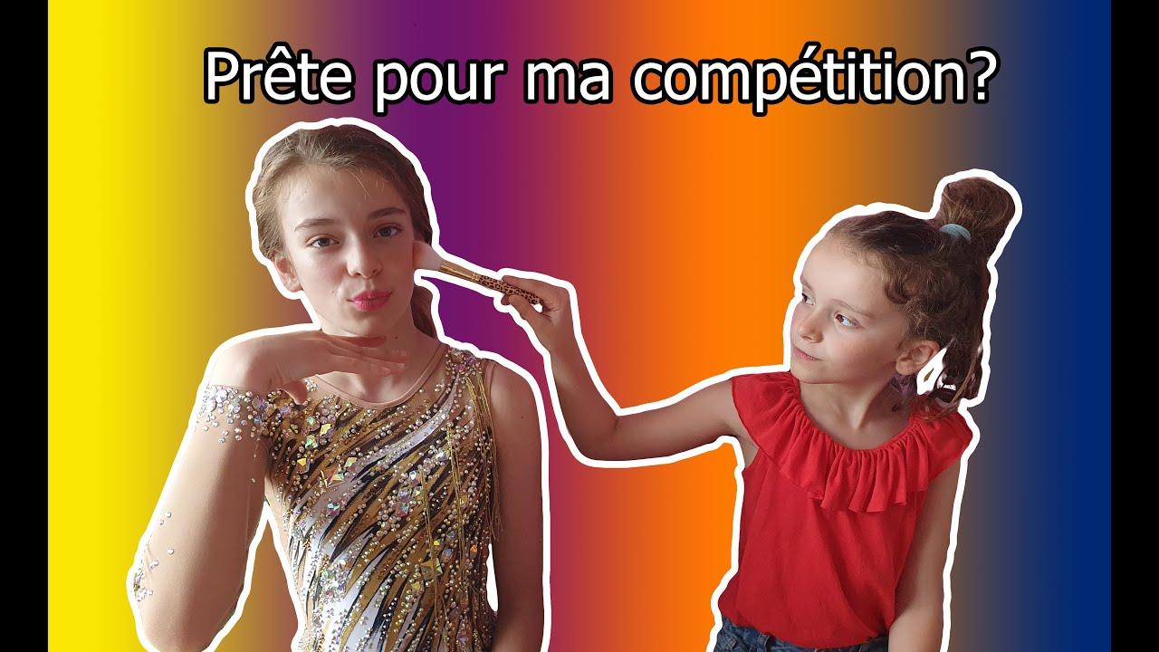 Ma Petite soeur  ( essaye )  de me préparer pour ma compétition de gymnastique Rythmique