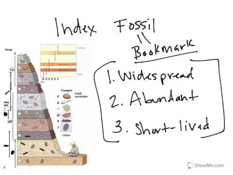 Physical Geology Geolgoic Time Index Fossil