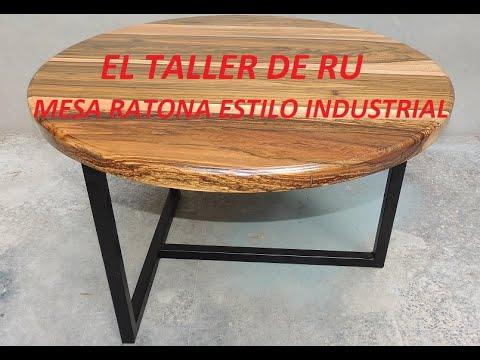 Mesa Ratona Estilo Industrial Coffee Table - EL TALLER DE RU