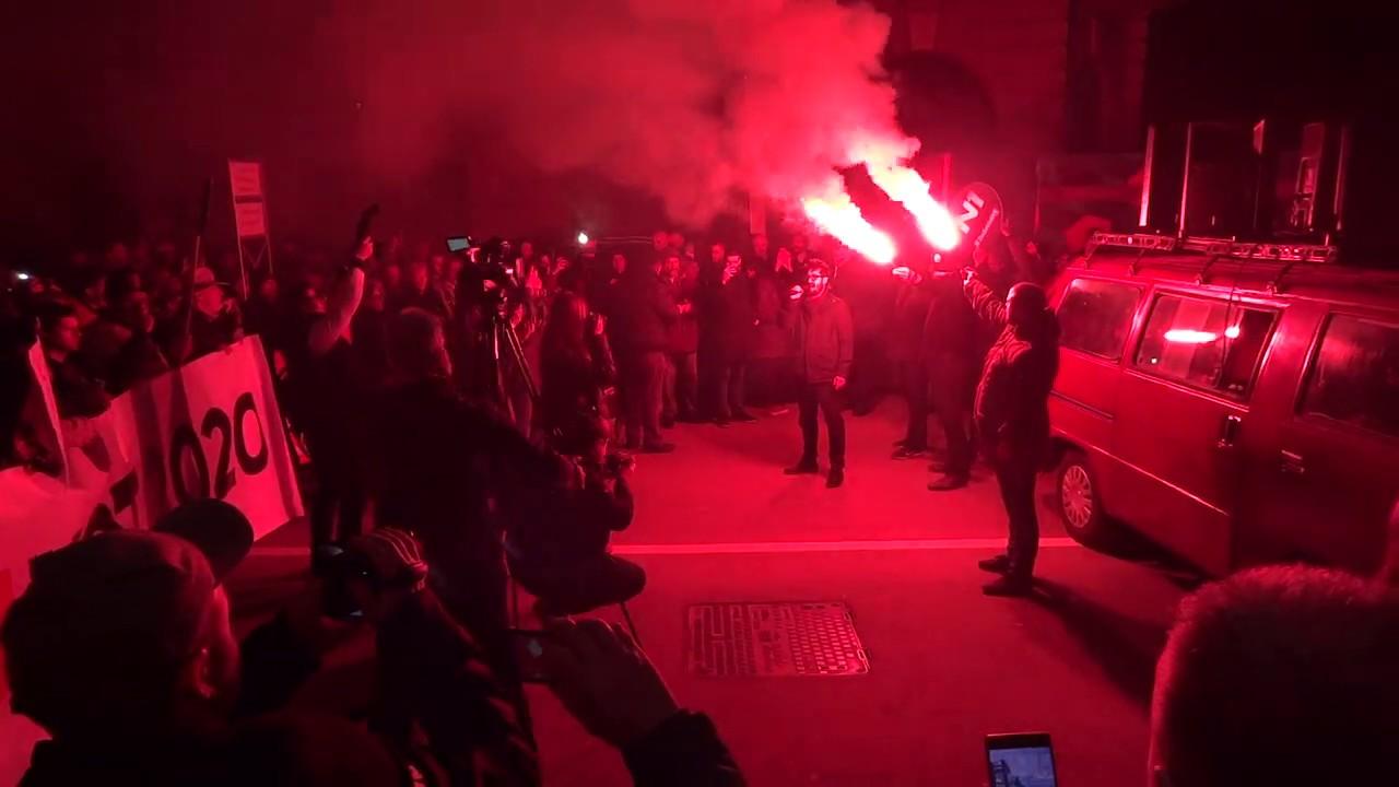 Protest Beograd 15.02.2020. Govor u Savamali