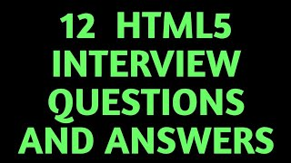 Download lagu 12 most asked HTML5 Interview Questions and Answers MP3