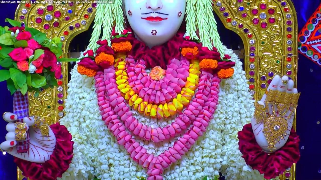 Ghanshyam Maharaj Shringar Darshan on Tue 22 Jun 2021