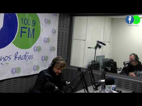 Utenos radijo studijoje Benediktas Vanagas