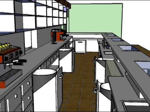 Dise o 3d barra cafeter a hotel rural leo youtube for Planos de cocina en 3d
