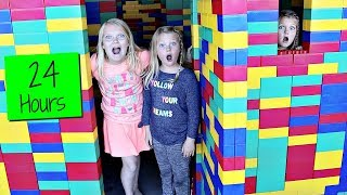 24 HOURS in a GIANT LEGO FORT!