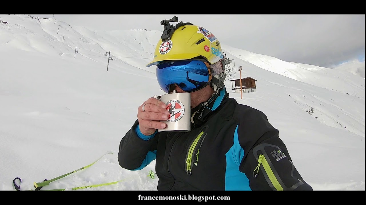 [DRONE ][MONOSKI ]: Première descente de la saison aux Contamines Montjoie en Split Monoski