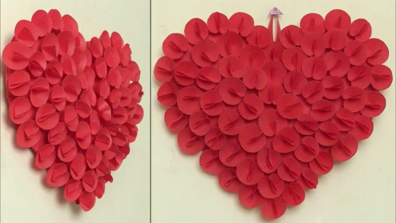 Best Out Of Waste Idea 2018 || Heart Wall Hanging Craft Idea || DIY Room  Decor Idea || Handmade