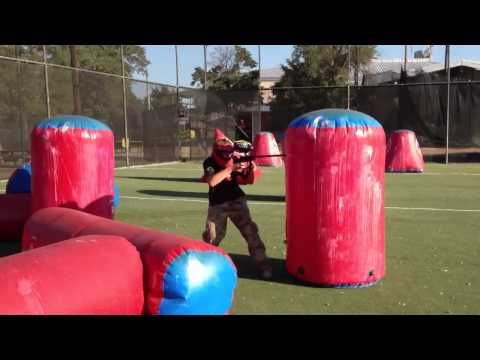Brittani s Up A Trash Talking Kid in 1v1 paintball match