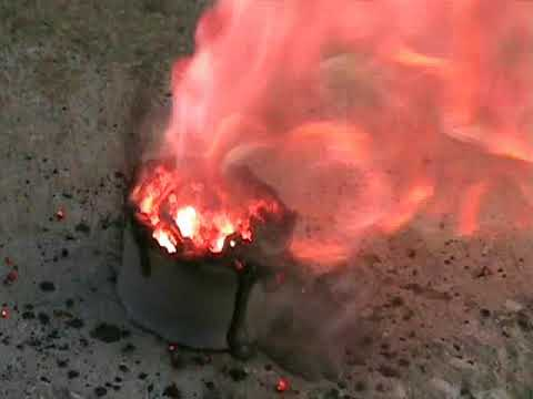 Reacting Potassium Permanganate (KMnO4) With Glycerin