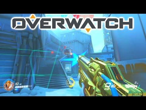 MY FIRST GOLDEN GUN! - OVERWATCH 3v3 ELIMINATION with Josh & Simon
