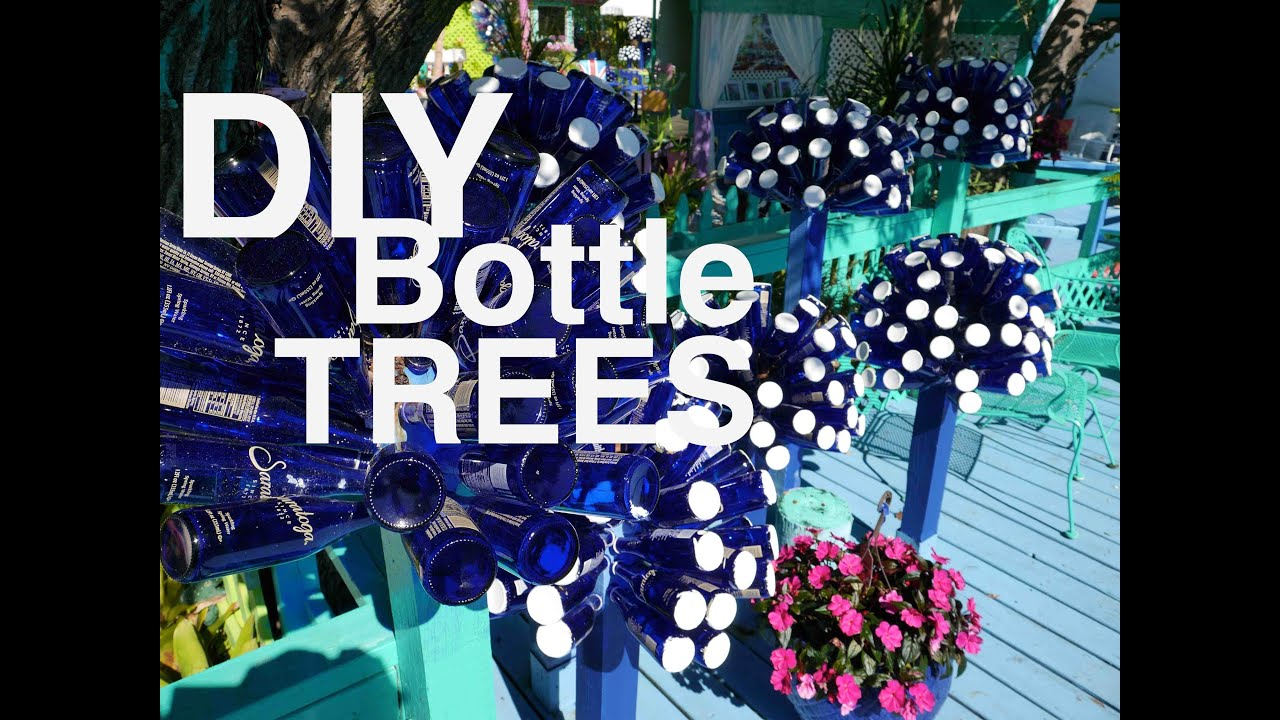 Diy make a dr seuss looking bottle tree with beer for How to make a wine tree