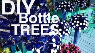 """DIY: Make a Dr. Seuss-looking """"Bottle Tree"""" with Beer, Wine, and Water Bottles"""