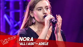 Nora - 'All I ask' | Blind Auditions | The Voice Kids Belgique